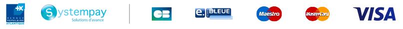 Banque populaire Atlantique, Systempay solutions d'avance, Carte bancaire, e.blue, Maestro, Mastercard, Visa